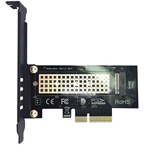 glotrends Adaptador PCIE a M.2 para PC de Escritorio, PCIE GEN3 Full Speed (PA09)