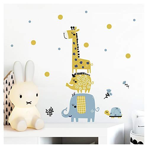 Little Deco Kinderbild Safaritiere Giraffe Elefant I Wandbild 96 x 40 cm (BxH) Motiv 4 I Schwein Schildkröte Wandtattoo Aufkleber Babyzimmer Wandsticker Mädchen DL311-4