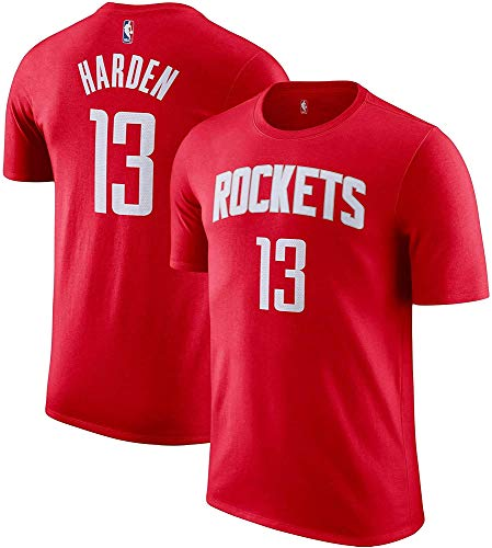OuterStuff James Harden Houston Rockets NBA Boys Youth 8-20 Red Name & Number Player T-Shirt (Youth Medium 10-12)