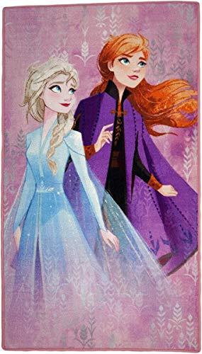 Disney Frozen - Alfombra para Dormitorio Infantil, Poliamida, Talla M