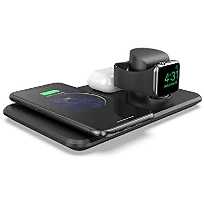 LETSCOM Wireless Charger,3 in 1 Qi-Certified 15...