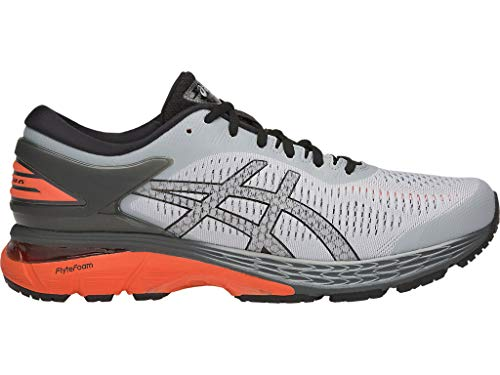 ASICS Men's Gel-Kayano 25 Running Shoes, 9.5M, MID Grey/NOVA Orange