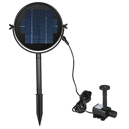 Decdeal Solar Powered Pond Pump Solar Panel Solar Powered Fountain Water Pump Kit for Bird Bath Pond Pull 9V/3W