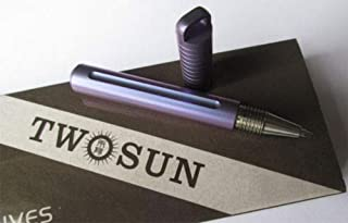 Twosun MINI Light Purple Titanium Alloy Tactical Lock Key Ring Pen PEN03-Purple