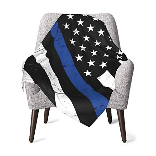 Fluffy Plush Baby Blankets Police Support Flag Swaddle Blanket Warm Cozy Receiving Blankets for Winter All Seasons Crib Stroller Blanket Covers for Newborn Infant 30'x40'