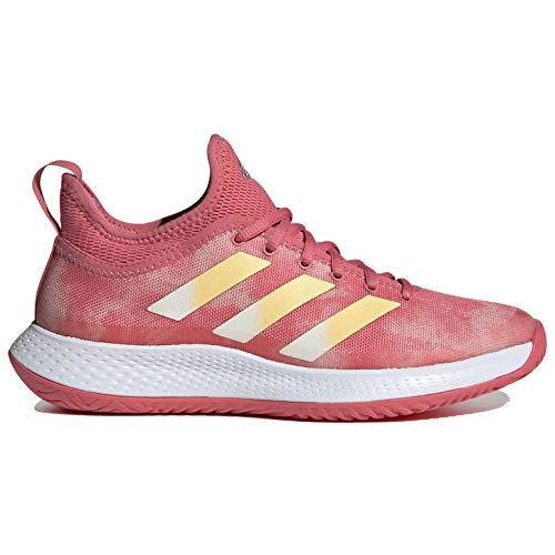 adidas Men's Defiant Generation Tennis Shoe, Hazy Rose/Acid Orange/Cream White, 11.5