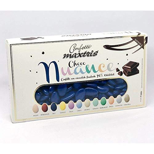 Confetti Maxtris Choco Nuance Colore Blu Fondente, Cioccolato