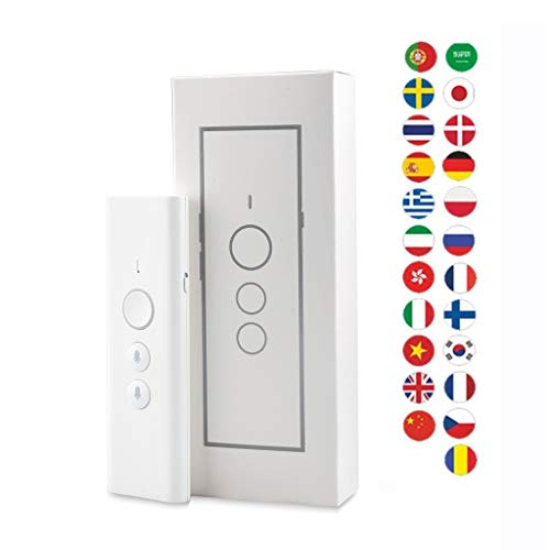TYXTYX Traducción de Voz Inteligente, Traducción Instantánea Instant Translator,portátil,Soporte 40 Idiomas para reuniones, Viajes o Estudios,Blanco