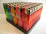 50 ELECTRONIC REFILLABLE LIGHTERS WITH ADJUSTABLE FLAME