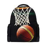 Schultasche, Basketball, Schulrucksack, Laptop-Rucksack, Tagesrucksack, Reiserucksack, Studentenbuchtaschen