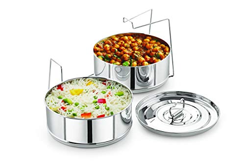 Stackable Stainless Steel Insert Pans - 6QT- Inserts for Instant Pot - Pan for Instapot - Accessories for Instant Pot- FITS 6 QT & Above - Pressure Cooker Steamer Pan Accessories