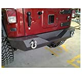 Promaxx Automotive PMXJEEPTJRB6620 Wrangler Rear Bumper Black Textured Powder Coated Finished