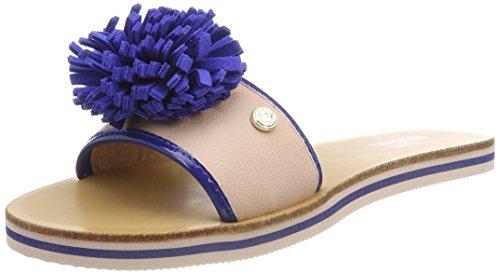 Love Moschino Sabotd.2154418/20 Bo.PU RS/VR.PU BT, Mules Femme, Multicolore (Pink-Bluette), 37 EU