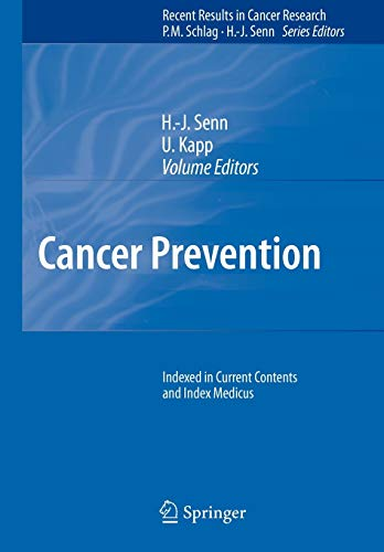 Cancer Prevention (Recent Results in Cancer Research, Band 174)