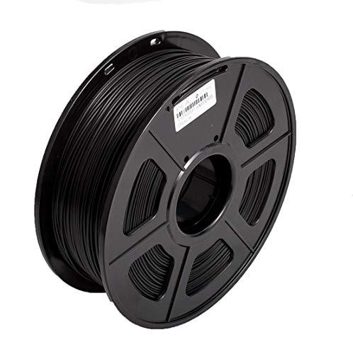 Filament 1.75 PLA 3D Filament PLA Plus for 3D Printer & 3D Pens, PLA Filament Weight 1.8 LBS (0.8KG), Printing Accuracy +/- 0.02 (Black)