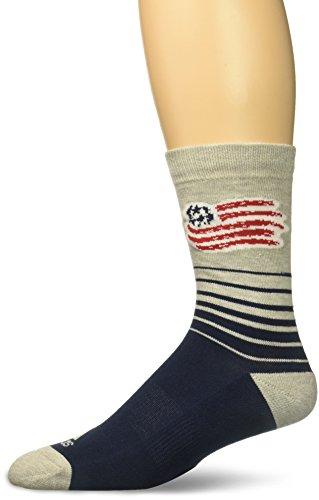 adidas Men's Jacquard Pattern Crew Socks, Navy, Size 12-15