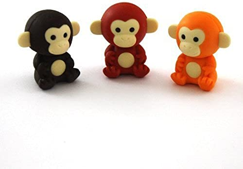 suministramos lo mejor Iwako Japanese Erasers - amarillo, marrón and Chocolate Monkeys Monkeys Monkeys (3 pieces) by Iwako  comprar descuentos