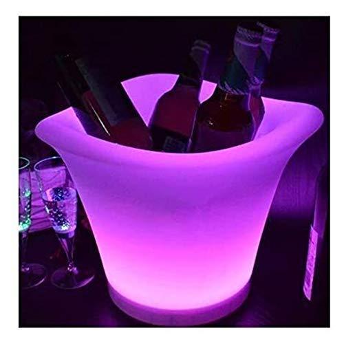 SQHY Lampada da Tavolo Luminosa per Vino Luminoso Lampada da Tavolo Impermeabile a Quattro Angoli con Secchiello per Il Ghiaccio 1202