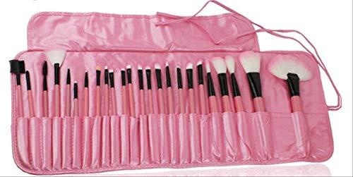 32pcs Pinceaux De Maquillage Professionnel Ensemble Make Up Poudre Brosse Beauté Outils Cosmétiques Kit Fard À Paupières Lip Brush Bag 24pcs rose