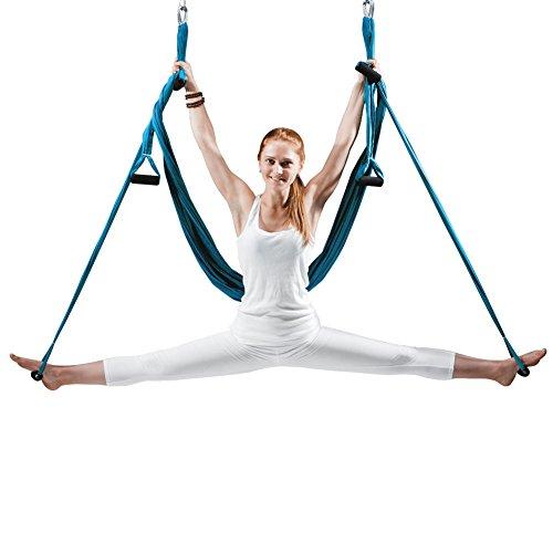 Best Deals! EUROSPORTS High Load Capacity Aerial Yoga Swing/Inversion/Hammock/Sling for Flying Antig...