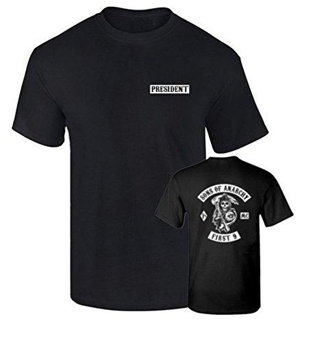 Camiseta President Hijos de la anraquia Sons of Anarchy Algodon Calidad 190grs (XL)