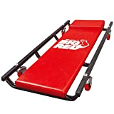 BIG RED TR6453 Torin Rolling Garage/Shop Creeper: 36' Padded Mechanic Cart with 4 Casters, Red, 4-wheel