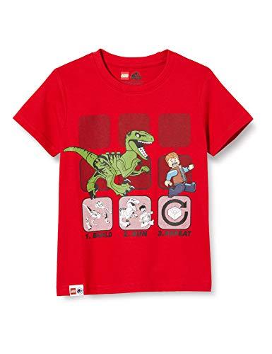 LEGO Jurassic World Camiseta, Rojo (Bright Red 367), 146 cm