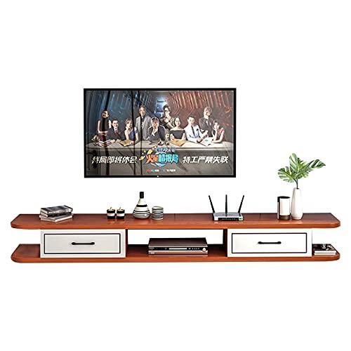 Peakfeng Centro de Entretenimiento de gabinetes de TV, Consola de Soporte de TV, Consola de TV Flotante de Madera, Adecuado para Dormitorio/Sala de Estar (Size : 140cm)