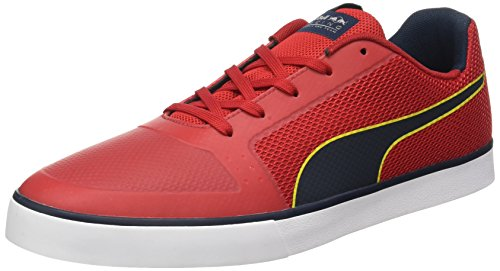 Puma Unisex-Erwachsene RBR Wings Vulc Low-Top, Rot (Chinese red-total Eclipse White 02), 44.5 EU