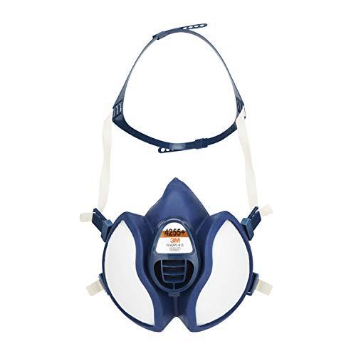 3M Atemschutz-Maske 4255+, A2P3, Halbmaske für Farbspritz-/Lackierarbeiten, 1 pro Packung