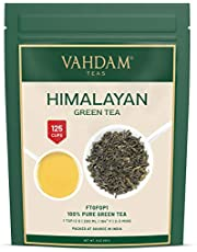 VAHDAM, Green Tea Leaves from Himalayas (100+ Cups) 9oz Bag - 100% Natural Weight Loss Tea & Slimming Tea - Powerful Anti-OXIDANTS, Brew Hot Tea, Iced Tea or Kombucha Tea, Green Tea Loose Leaf