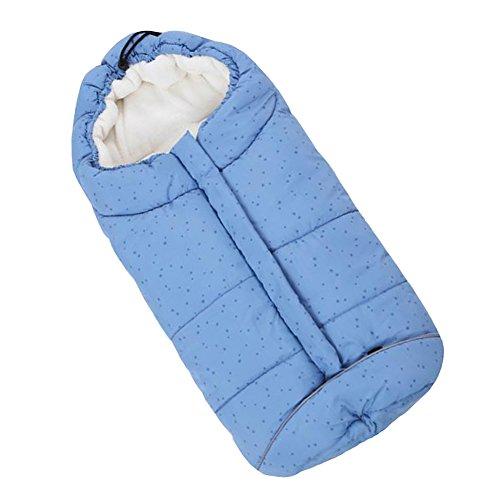 Fairy Baby maxi cosi winterfußsack kinderwagen für babyschale buggy fusssack baby wintersack schlafsack (Blauer stern,0-12 Monate)
