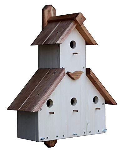 C&M Vogelhaus-Nistkasten-Fuer-Sperling-Spatzenhaus-Spatz-Spatzenvilla-Koloniebrueter; Maße: ca. H 49 x B 43 x T 20 cm