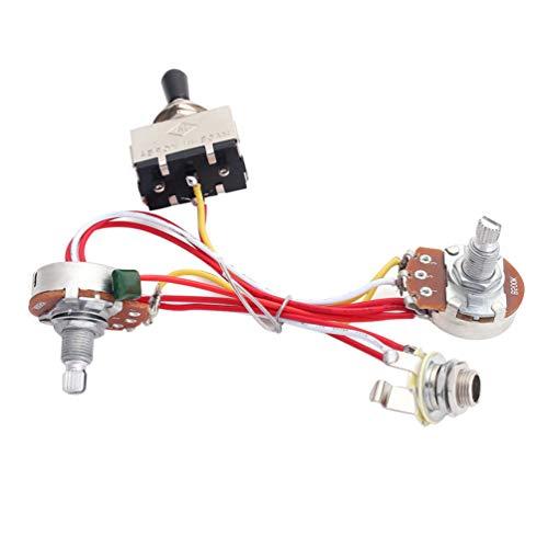 SUPVOX kit de arnés de cableado de guitarra eléctrica para reemplazos electrónicos...