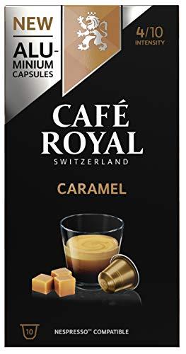 Café Royal Caramel Flavoured Edition 100 Nespresso®* kompatible Kapseln (aus Aluminium, Intensität 4/10) 10er Pack (10 x 10 Kaffeekapseln)