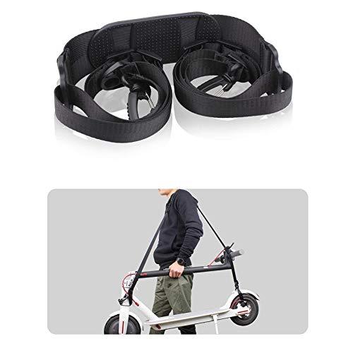 Tinke Verstellbarer Schultergurt für Xiaomi Mijia M365 Elektro-Scooter Kinderfahrräder Fahrrad 110cm - 160cm faltbar Rutschfester Schultergurt schwarz