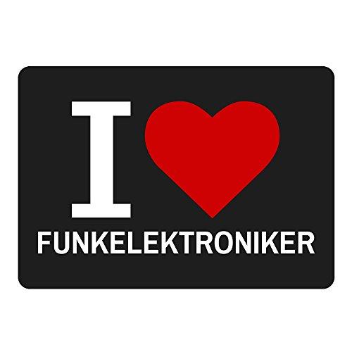 Multifanshop Mousepad Classic I Love Funkelektroniker schwarz