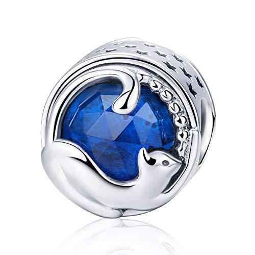 Teleye Abalorio de pulsera de plata de ley 925 para pulsera Pandora, pulsera europea (SCC708)