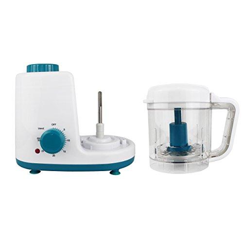 Leogreen – Baby-Küchenmaschine, Mixer für Babynahrung, Weiß/Blau, Funktion: 2 in 1 Dampfgarer und Mixer, Spannung: 220-240 V - 3