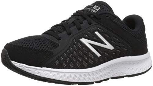 New Balance Women's 420 V4 Running Shoe, Black/Silver, 7.5 B US