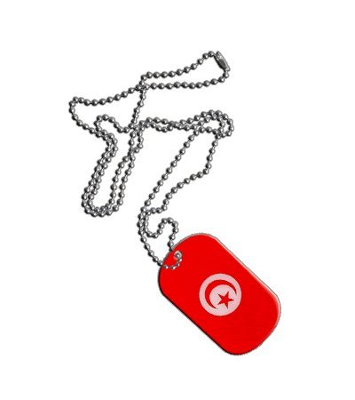 Dog Tag / Erkennungsmarke / Kette Tunesien - 3 x 5 cm