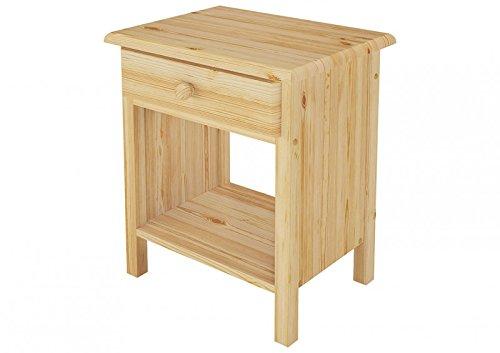 Erst-Holz Comodino in Pino massello con 1 cassetto e Un ripiano Aperto 90.20-K0