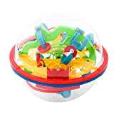3D Maze Ball with 100 Challenging, Best Gift Puzzle Game, 3D Puzzle Toy, Magical Maze Ball, Brain Teasers Puzzle