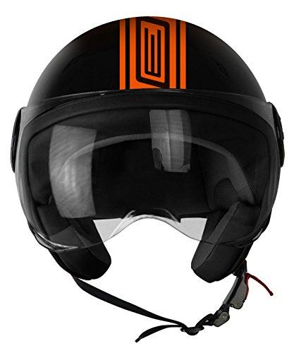 Origine Helmets 201585025300104Neon Street casco Demi Jet, Naranja, M