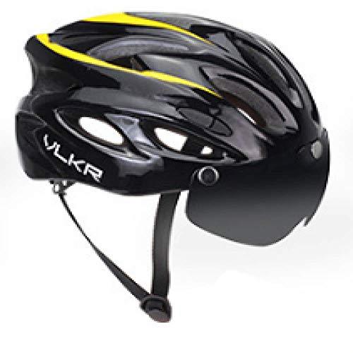 Tanto hombres como mujeres montan cascos, cascos de bicicleta eléctrica de viento roto, cascos con lentes de viento