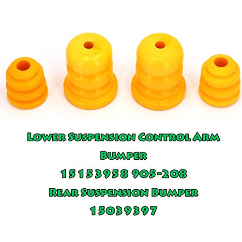 UTSAUTO Control Arm Bumpers /& Control Rear Axle Bumpers Replace 15153958 905-208 15039397 For Chevy Silverado Suburban Avalanche GMC Sierra Yukon 4Pcs 2PCS Arm Bumpers and 2PCS Axle Bumpers