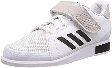 adidas Power Perfect III Weightlifting Powerlifting Shoe White/Black - UK 10.5