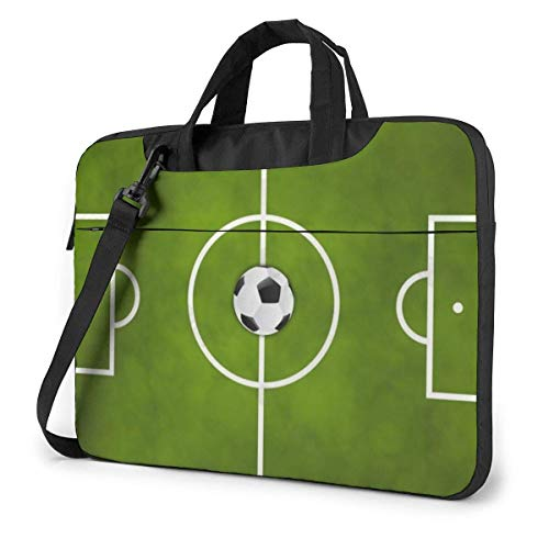 Soccer Field Laptop Bag Compatible Ultrabook Carrying Shoulder Handbag With Strap,