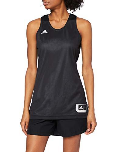 adidas W Rev Crzy Ex J Camiseta, Mujer, Negro/Blanco, XL