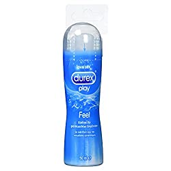 Durex Play Feel water-based lubricant - Lightweight, silky lube for sensation of touch - 1 x 100 ml in a practical dosing bottle